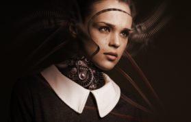 Robot Kadın Yüzü