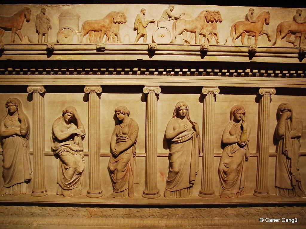 Ağlayan Kadınlar Lahdi - Detaylı / İstanbul Arkeoloji Müzesi