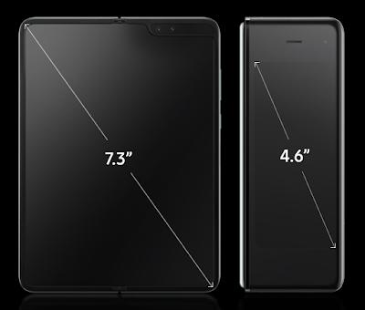 Galaxy Fold'un ekran boyutu