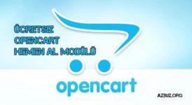 Ücretsiz OpenCart Hemen Al Modülü Türkçe 10