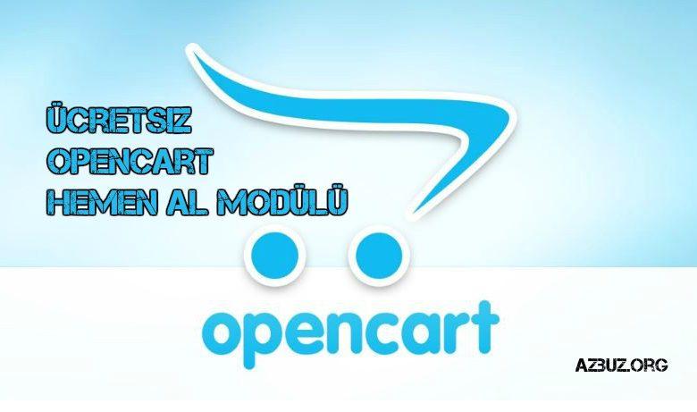 Ücretsiz OpenCart Hemen Al Modülü Türkçe 1
