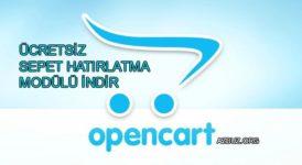 Ücretsiz Opencart Sepet Hatırlatma Modülü 8