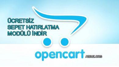Ücretsiz Opencart Sepet Hatırlatma Modülü 1