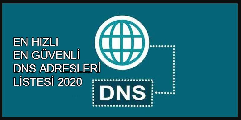 2020 En Hızlı Güncel DNS Adresleri 1