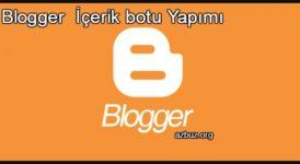 Blogger İçerik Botu - Blogger DB Kopyalama Nasıl Yapılır ? 9