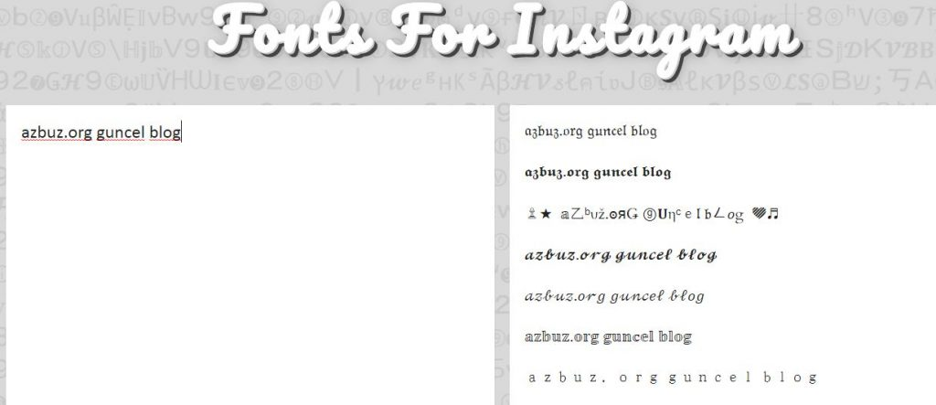İnstagram Profiline Şekilli Yazı Yazmak 3