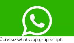Ücretsiz Whatsapp Grup Scripti 2020 9