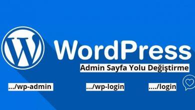 Wordpress Admin Sayfası Değiştirme Wp-Admin Wp-login Değiştirme 1