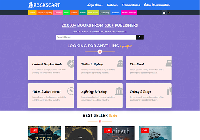 E-Book Blogger Template