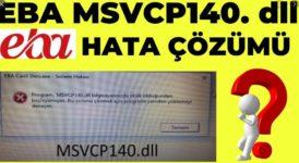 Kod yürütülmesi devam edemiyor çünkü MSVCP140.dll bulunamadı. Programı yeniden yüklemek bu sorunu çözecektir. 6