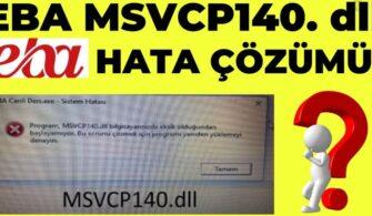 Kod yürütülmesi devam edemiyor çünkü MSVCP140.dll bulunamadı.