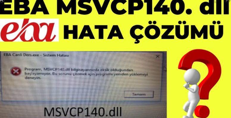 Kod yürütülmesi devam edemiyor çünkü MSVCP140.dll bulunamadı. Programı yeniden yüklemek bu sorunu çözecektir. 1