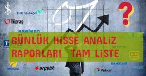 AL Sinyali Veren Hisseler - Günlük Borsa Raporları 2