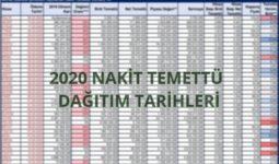2020 Nakit Temettü Dağıtım Tarihleri ve Listesi 1