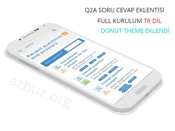 A 'dan Z' ye Q2A Soru Cevap Scripti Kurulumu TR 2020 2