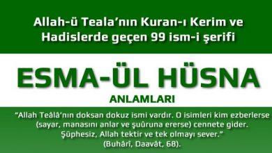 Allah'ın 99 İsmi ve Anlamları - Esma-Ül Hüsna 4