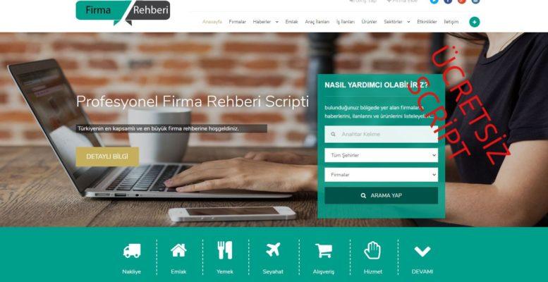 Ücretsiz Firma Rehberi Scripti 2020 1
