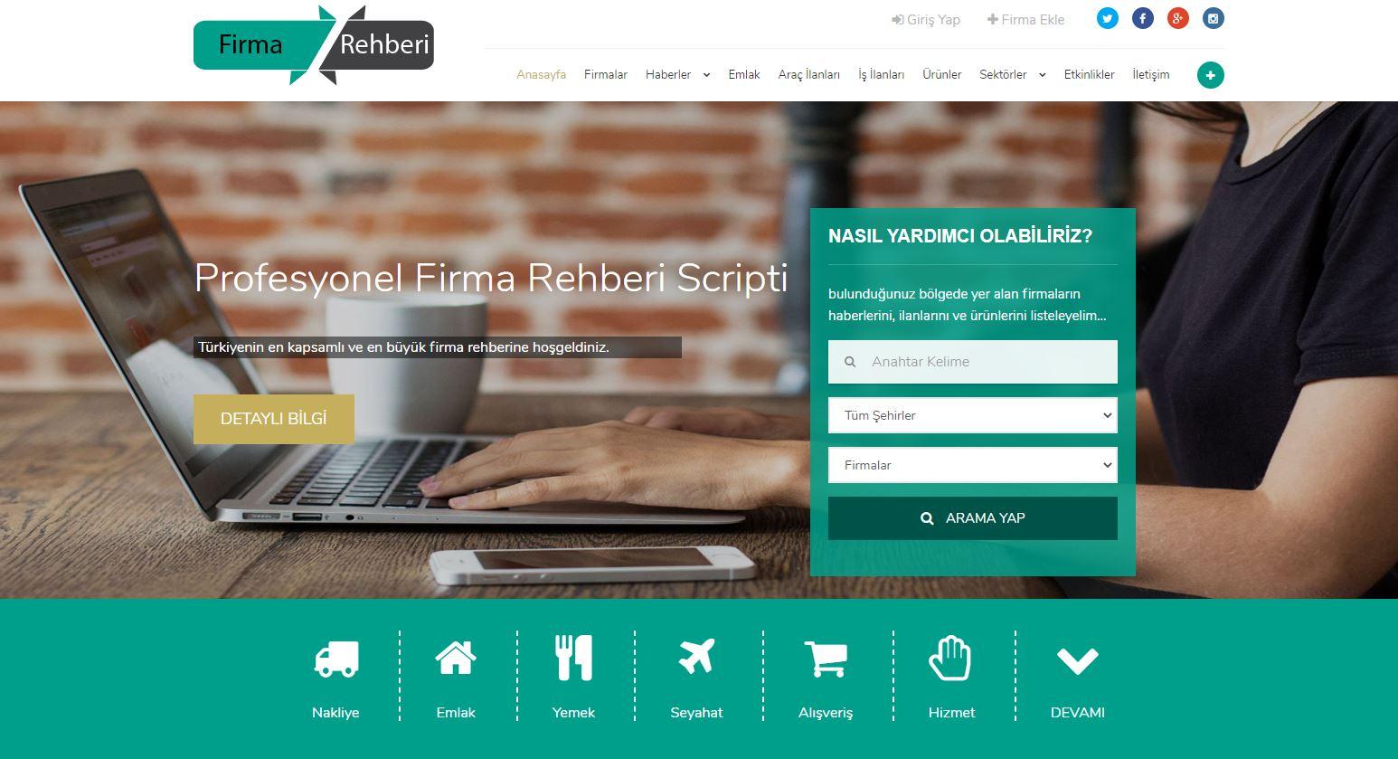 Ücretsiz Firma Rehberi Scripti 2020 2