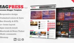 Blogger Haber Teması MagPress Ücretsiz İndir 4