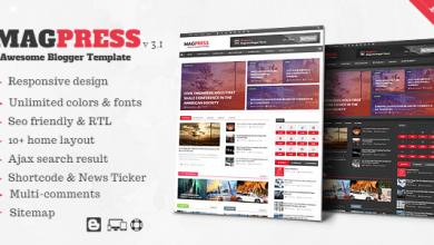 Blogger Haber Teması MagPress Ücretsiz İndir 1