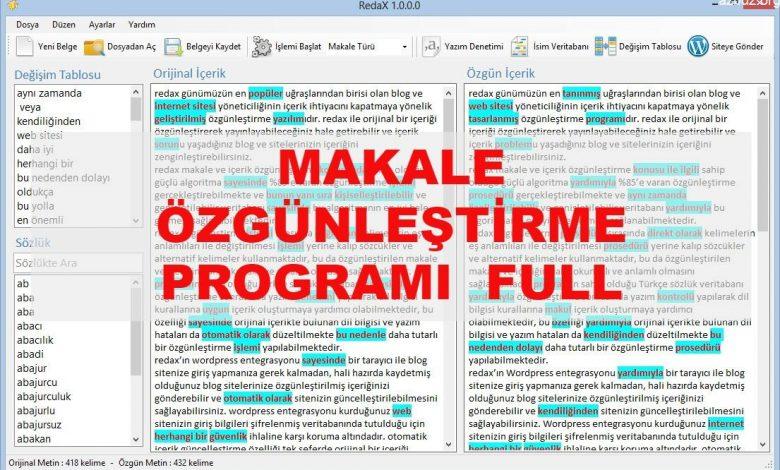 Makale Spinleme Programı Full 1