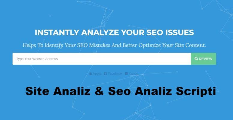Website Analiz & Seo Analiz Scripti 1