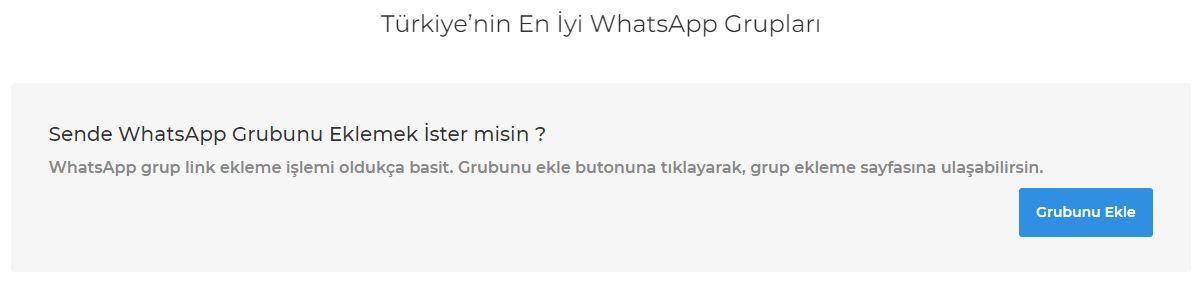 WhatsApp Grup Linkleri Türkiye 2020 9