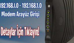 192.168.1.0 Modem Arayüz Giriş 1