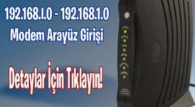 192.168.1.0 Modem Arayüz Giriş 3