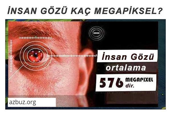 İnsan Gözü Kaç (MP) Megapikseldir ? 1
