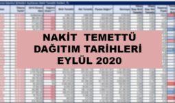 Nakit Temettü Dağıtım Tarihleri Eylül 2020 / 1 2