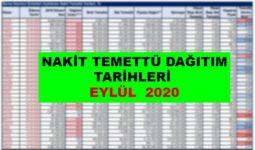Nakit Temettü Dağıtım Tarihleri Eylül 2020 1