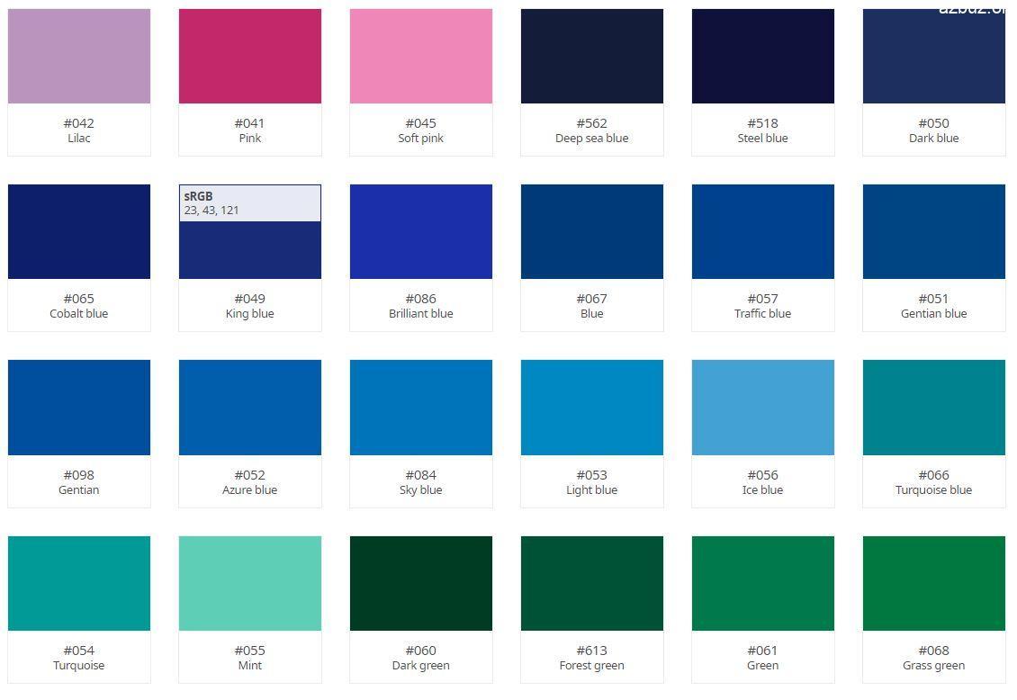 Oracal 641 Serisi Folyo Renk Kartelası 3