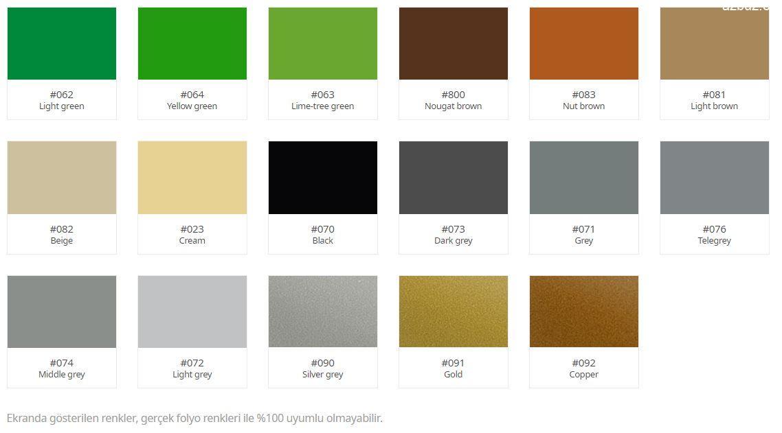 Oracal 641 Serisi Folyo Renk Kartelası 4