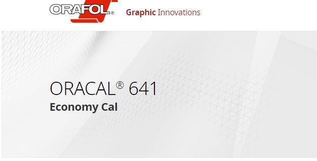 Oracal 641 Serisi Folyo Renk Kartelası 1
