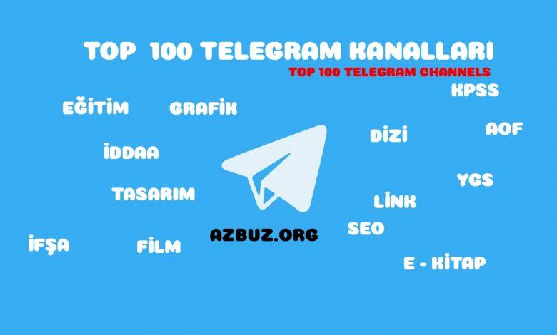 En Büyük Telegram Kanalları TOP 100 Telegram Channels 1
