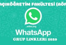 Açıköğretim (AÖF) Whatsapp Grup Linkeri 2020 - 2021 10