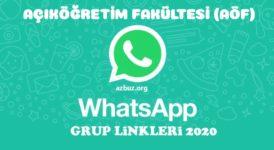 Açıköğretim (AÖF) Whatsapp Grup Linkeri 2020 - 2021 2