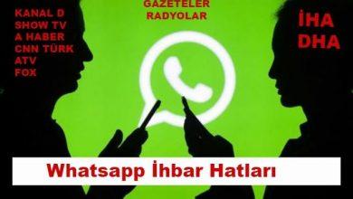 Gazete ve Televizyon Whatsapp İhbar Numaraları 2020 1