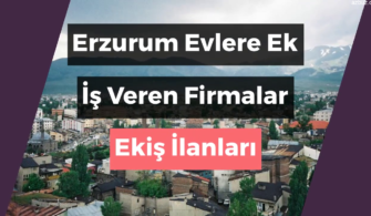 Erzurum Evlere Ek İş Veren Firmalar – Ekiş İlanları 2020
