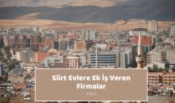 Siirt Evlere Ek İş Veren Firmalar – Ekiş İlanları 2020