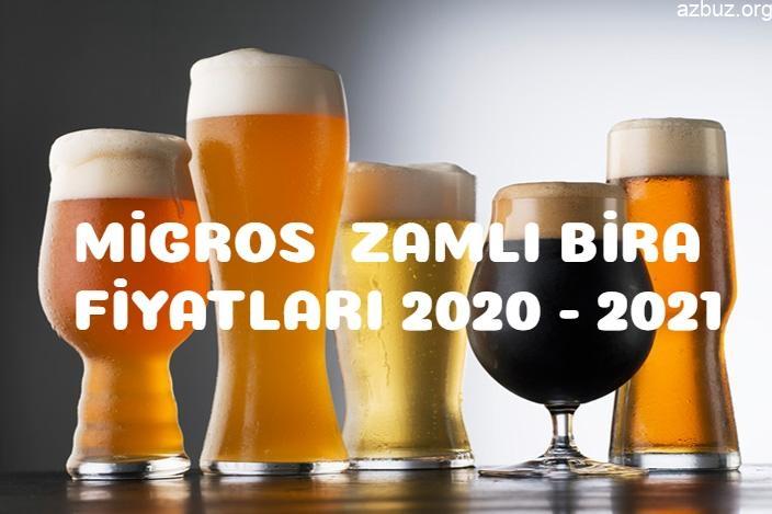 Migros Zamlı Bira Fiyatları 2020 - 2021 Efes- Tuborg- Beck's 1