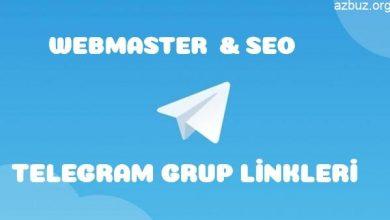 Webmaster & Seo Paylaşım Telegram Grupları 30