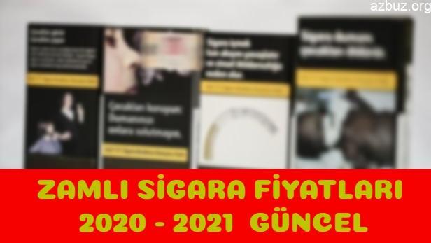 Zamdan Sonra Güncel Sigara Fiyatları 2020 -2021 1