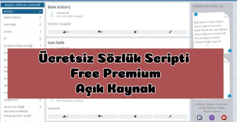 3000 TL lik Ücretsiz Sözlük Scripti - Free Premium Script 1