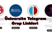 Üniversitelerin Telegram Grupları 5