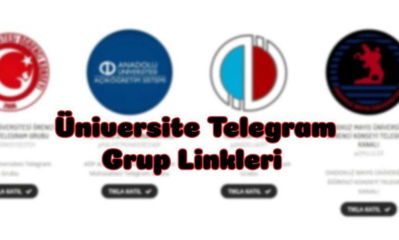 Üniversitelerin Telegram Grupları 1
