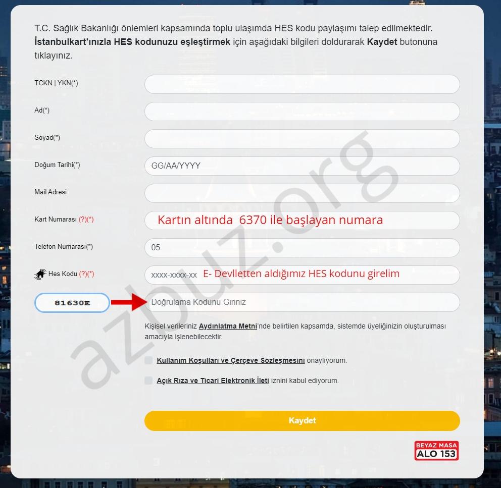İstanbulkart HES Kodu Ekleme - Eşleştirme İşlemi Nasıl Yapılır ? 4