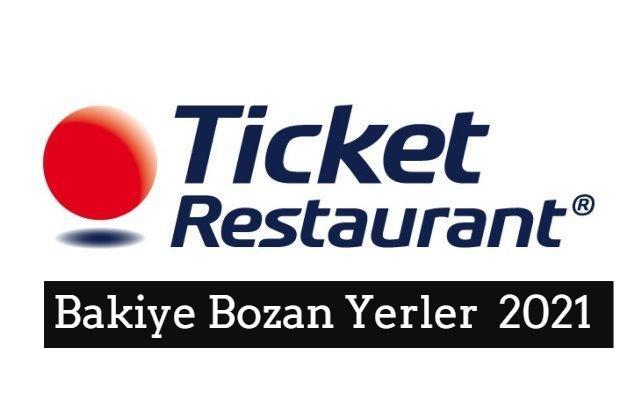 Ticket Bozen Yerler - Ticket Bakiye Kırdırma 1