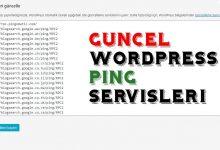 Wordpress Güncel Ping Servisleri Güncel Listesi 52